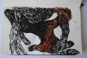 technique mixte sur papier 21x13